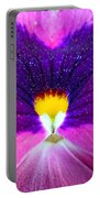 Pansy Abstract 3 Portable Battery Charger