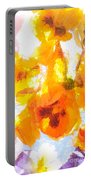 Pansy Flowers Portable Battery Charger