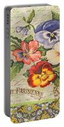 Pansy Garden-b Portable Battery Charger