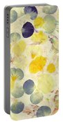 Pansy Petals Portable Battery Charger by James W Johnson