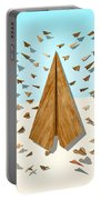 Paper Airplanes Of Wood 10 Portable Battery Charger