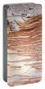Paper Bark Background Portable Battery Charger