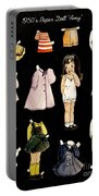 Paper Doll Amy Portable Battery Charger by Marilyn Smith