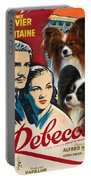Papillon Art - Rebecca Movie Poster Portable Battery Charger