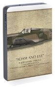 Pappy Boyington P-40 Warhawk - Map Background Portable Battery Charger