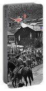 Parade Bisbee Arizona July 4th 1909 Color Added 2013 Portable Battery Charger