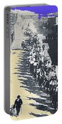 Parade Honoring General Nelson A. Miles  11-08-1887 Geronimo's Capture Tucson Color Added 2008 Portable Battery Charger
