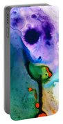 Paradise Found - Colorful Abstract Painting Portable Battery Charger