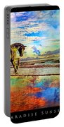 Paradise Sunset Portable Battery Charger by Betsy Knapp