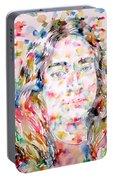 Paramahansa Yogananda Watercolor Portrait Portable Battery Charger