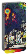 Paris At Midnight Limo Pleasure Drive Portable Battery Charger