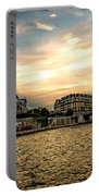 Paris At Sunset Portable Battery Charger