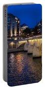 Paris Blue Hour - Pont Neuf Bridge And La Samaritaine Portable Battery Charger