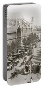 Paris: Les Halles, C1900 Portable Battery Charger