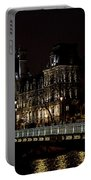 Paris Night Along The Seine Portable Battery Charger