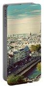 Paris Skyline France. Eiffel Tower Portable Battery Charger