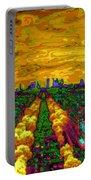 Paris Skyline Pop Art Portable Battery Charger