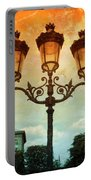 Paris Street Lamps With Textures And Colors Portable Battery Charger