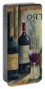 Paris Wine Tasting Portable Battery Charger by Marilyn Dunlap