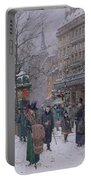 Parisian Street Scene Portable Battery Charger