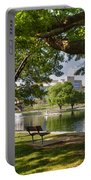 Park Bench By A Lake Portable Battery Charger
