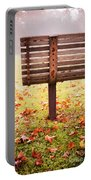 Park Bench In Autumn Portable Battery Charger by Edward Fielding