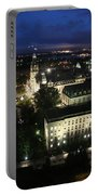 Parlament Quebec At Night  Portable Battery Charger