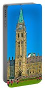 Parliament Building In Ottawa-on Portable Battery Charger