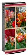 Parrot Tulips In Springtime Philadelphia Portable Battery Charger