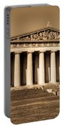 Parthenon In Sepia 3 Portable Battery Charger