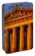 Parthenon On A Stormy Day Portable Battery Charger