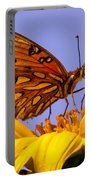 Passion Butterfly On The Mexican Sunflower Portable Battery Charger