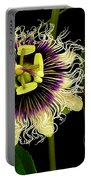 Passion Flower Portable Battery Charger by James Temple