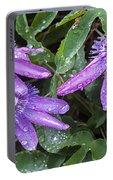 Passion Vine Flower Rain Drops Portable Battery Charger