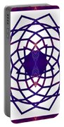 Passionate Purple Prayers Abstract Chakra Art By Omaste Witkowsk Portable Battery Charger