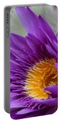 Passionate Purple Water Lily Portable Battery Charger