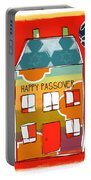 Passover House Portable Battery Charger by Linda Woods