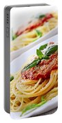 Pasta And Tomato Sauce Portable Battery Charger