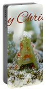 Pasta Christmas Trees With Text Portable Battery Charger