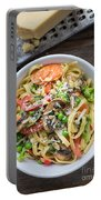Pasta Primavera Dish Portable Battery Charger by Edward Fielding