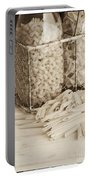 Pasta Sepia Toned Portable Battery Charger