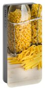 Pasta Shapes Still Life Portable Battery Charger by Edward Fielding