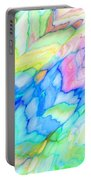 Pastel Abstract Patterns V Portable Battery Charger