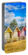 Pastel Beach Huts Portable Battery Charger by Chris Thaxter