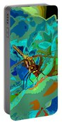 Pastel Dragonfly Rose Portable Battery Charger