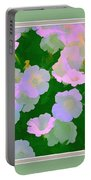 Pastel Flowers II Portable Battery Charger by Tom Prendergast