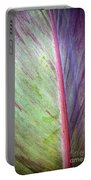 Pastel Leaf Detail Portable Battery Charger