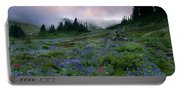 Pastel Mountain Dawn Portable Battery Charger