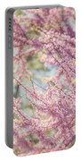 Pastel Pink Flowers Of Redbud Tree In Springtime  Portable Battery Charger