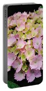 Pastel Pink Hydrangea Portable Battery Charger